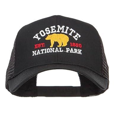 e90d88902 Yosemite National Park Embroidered Mesh Cap - Black OSFM at Amazon ...