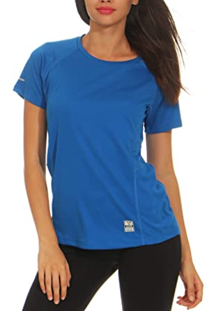 Happy Clothing Damen Sport T-Shirt Kurzarm Trikot Sommer Funktionsshirt Fitness  Top  Amazon.de  Bekleidung dc1535238b
