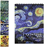 Sketch Book,Sketch Pads,Spiral Bound Sketchbook,Starry Sky Painting Sketching Book,70 Ib/100 g,8.25x11.25 inch Art Notebook,Pencil Graphite Crayons Pen Drawing Paper,Drawing Pad,A4,50Sheets