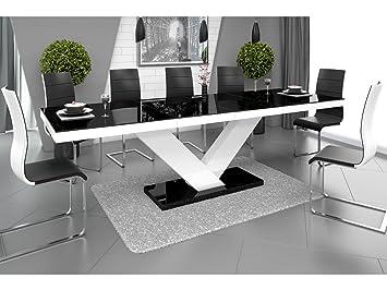 H MEUBLE H Mobile Tavolo da Pranzo Design allungabile 160 ÷ 256 cm x ...