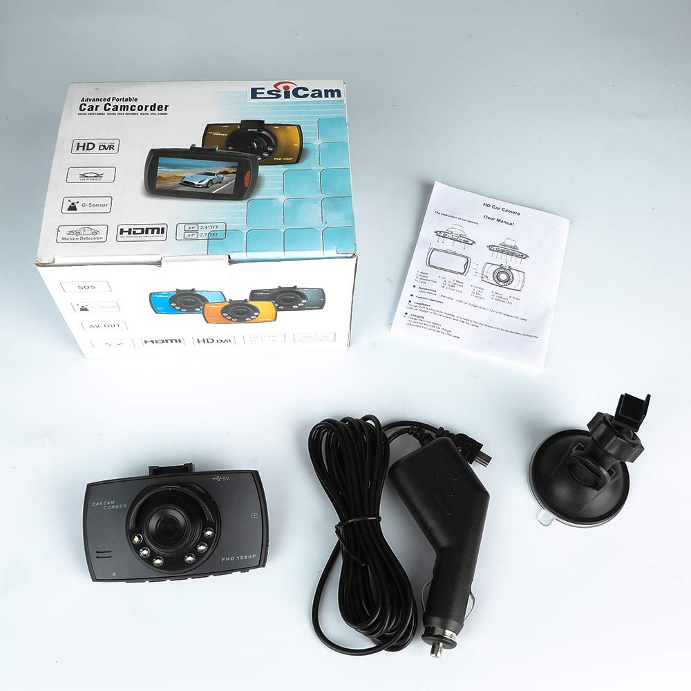 HD 1080P Car DashCam DVR Camera Video CAM Recorder 170 Wide Angle with Night Vision G-Sensor Motion Detection,Parking Monitor Vehicle Backup Dashboard Camera 2.7