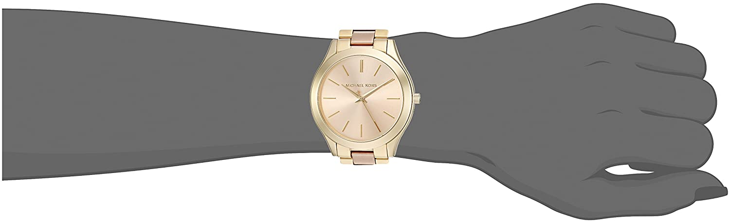 736e5045aa34 Amazon.com  Michael Kors Women s Slim Runway Gold-Tone Watch MK3493  Michael  Kors  Watches