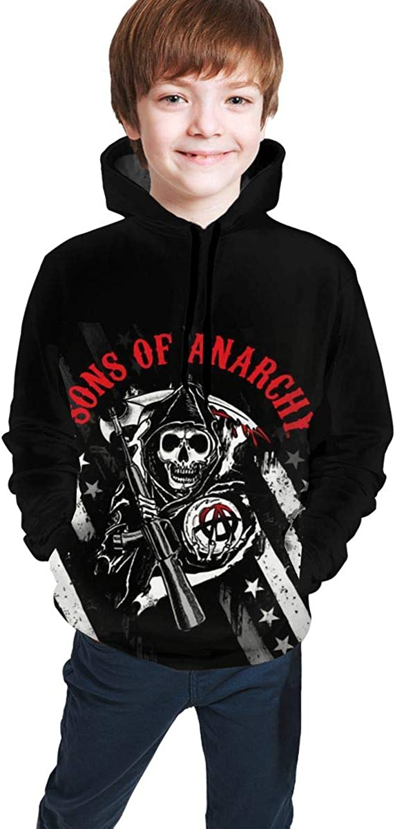Sons of Anarchy Youth 3D Print Pullover Hoodies