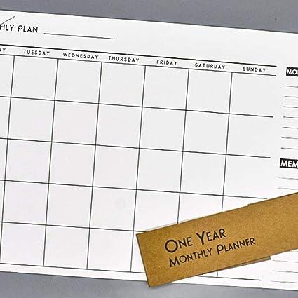 Calendrier De Travail.Dizi248 Plan Mensuel Simple A3 Papier A Notes Calendrier