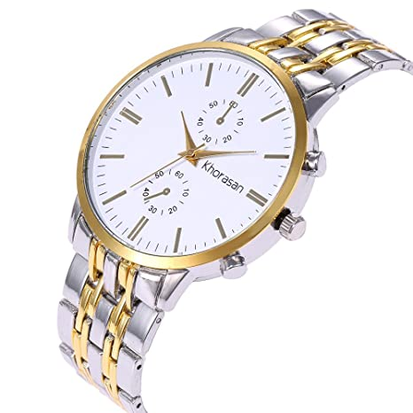 Amazon.com: Business Watches for Men DYTA Analog Quartz Watch with Stainless Steel Band Cases Under 55 Casual Wristy Watches Luxury Watches on Relojes De ...