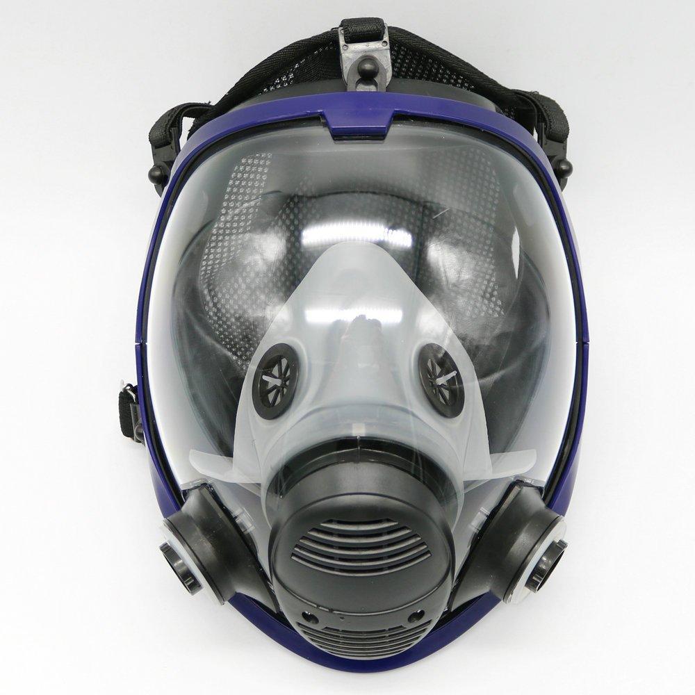 Máscara gas de cara completa unidad facial respirador adecuado para aspersión de