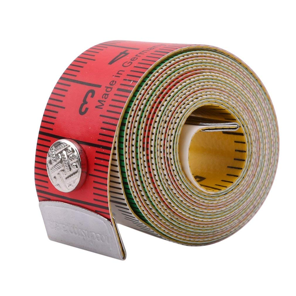 Sewing//Tailors Tape Measure 150cm Dressmaking Soft Flat Fabric Measuring Tapes Double-Sided with cm and inches Useful and Practical