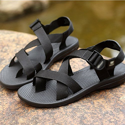 Black eu42 MAZHONG Color Sports Trend Men's Black Outdoor Cn43 EU39 Sandals Summer 5 UK6 5 Uk8 CN40 0ndOxxY