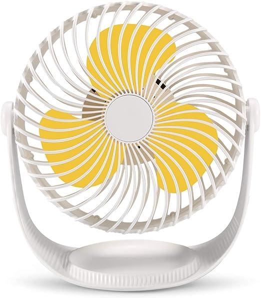 Ventilador de escritorio VOLADOR funciona con pilas, ventilador de ...