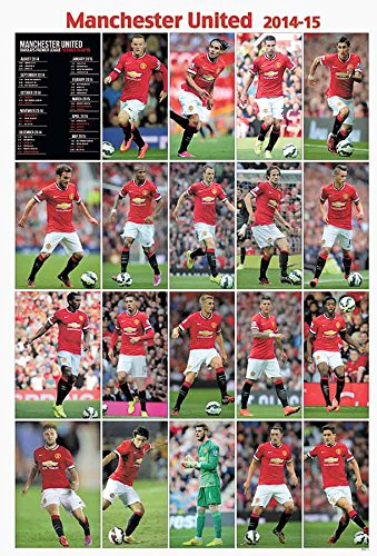 Manchester United 2014 - 2015 Football Soccer Wall Decoration Poster (#001)