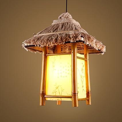 Chandelier Jack Mall Luces de Cuerda Trenzada de bambú ...