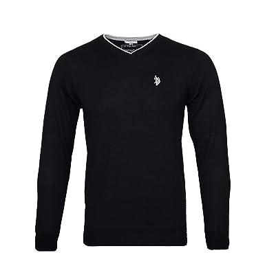 U.S. Polo Assn. Herren Pullover mit V Ausschnitt – Eleganter