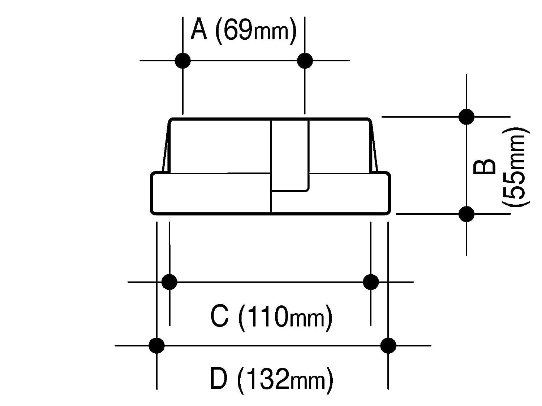 Osmawavin Round Rainwater Universal Adaptor 68mm to 110mm 4d149