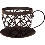 Cypress Home Black Coffee Cup Shaped Metal Basket