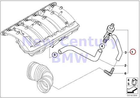 OES Genuine Booster Vacuum Hose for select BMW models