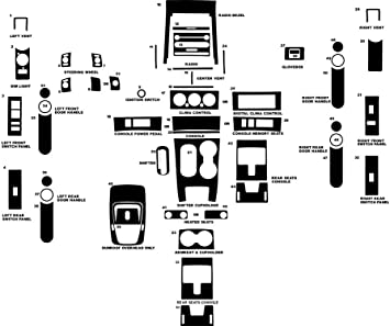 Replacement Parts Black Chrome Rvinyl Rdash Dash Kit Decal Trim ...