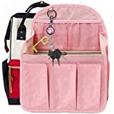 Diaper Backpack Organizer Insert, Women Backpack For Mummy Coach MCM LV JanSport Anello (Large, Pink)