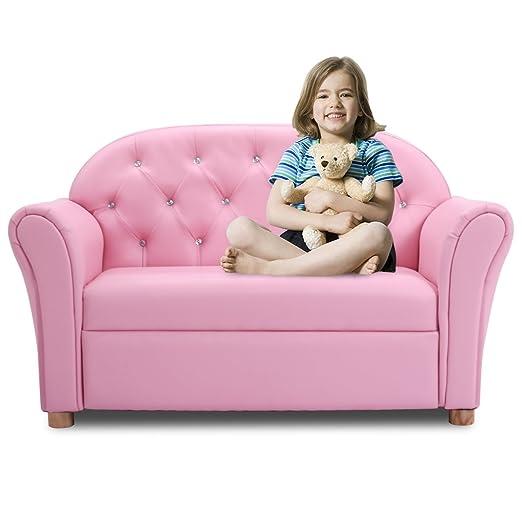 Amazon.com: Costzon Kids Sofa Set Children Armrest Chair Lounge ...