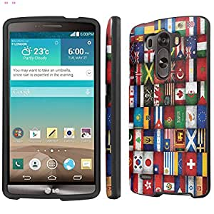 NakedShield LG G3 (World Flag) Total Hard Armor LifeStyle Black Phone Case