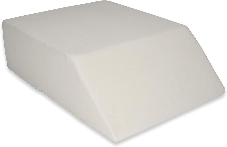 Sanolind Almohada Ortopédica de la Elevación de Las Piernas, Cojín para Las Venas/Tamaño 70 x 50 x 20 cm Almohada de Cuña (Blanco)