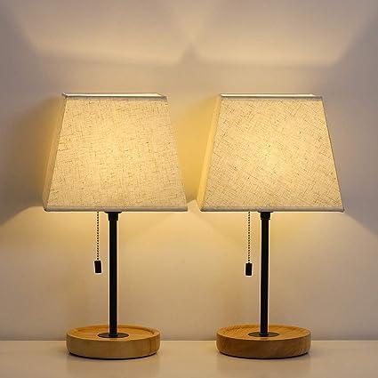 Amazon.com: HAITRAL - Lámpara de mesa (2 unidades), 60.00 ...