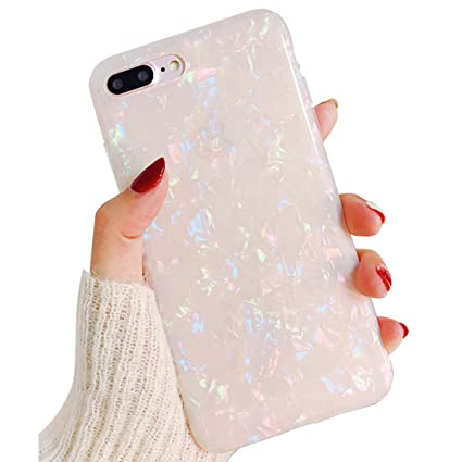 Cute Bling iPhone 8 Plus Case Clear Silicone iPhone 7 Plus Case for  Girls,iPhone 6S Plus Case Thin Protective iPhone 6 Plus Case TPU Bumper  Cover