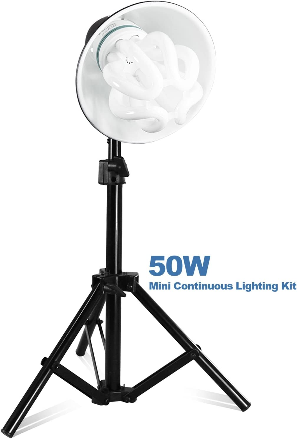 Julius Studio 50W Bright Beauty Dish Reflector Table Top Photo Studio Lighting Stand Kit PR20/_AM1