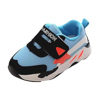 fc92eea746d039 GongzhuMM Coloblock Baskets Basses Mixte Enfant Fille Garcon Mignonne  Chaussures Bebe Maille Respirant Sneakers Chaussures de