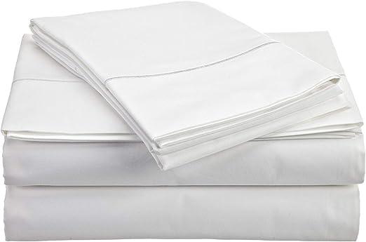 1500TC Egyptian Cotton SHEET SET Custom Extra Deep Pocket Sateen Platinum Stripe