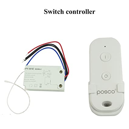wireless remote switch control 110v for fluorescent lamp halogen rh amazon com