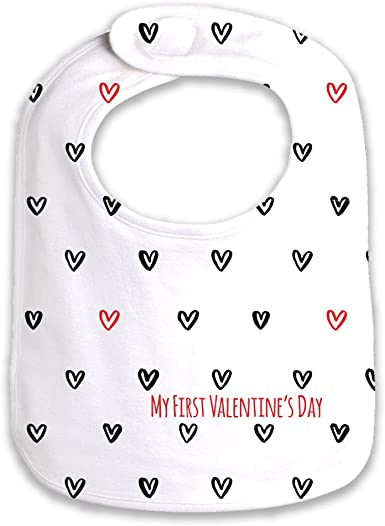 Burp Cloth Bib Baby Love Valentine/'s Day Onesie