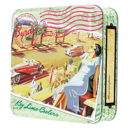 Travel Postcard Tin Key Lime Coolers Cookies - Cookie Tin from Byrd Cookie Company ()