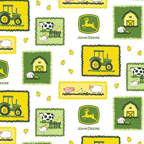 Amazon Com John Deere Baby Barnyard Patch Cotton Fabric 43 44 Wide