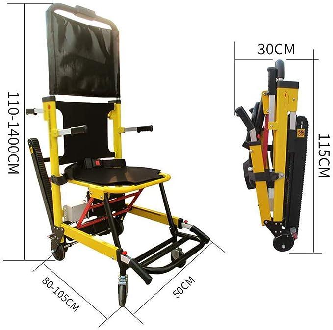 MJ-Brand Silla de Ruedas eléctrica para Subir escaleras Medical Ascensor Escalera Silla de evacuación Plegable, Puede ser como Dispositivos de elevación Camilla Ayuda de Movilidad para Ancianos: Amazon.es: Hogar