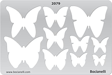 Plastic Stencil Template for Graphical Design Drawing Drafting Jewellery Making - Butterflies Butterfly