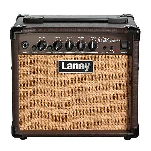 Laney LA15C LA Series Compact Acoustic Guitar Practice Amplifier with Chorus (Acoustic Guitar Amps Crate)