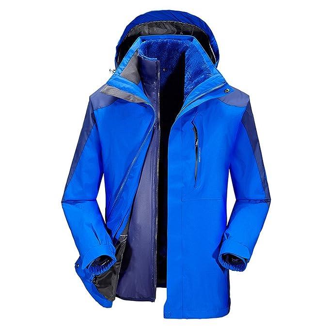Voguehive San Valentín forro polar sudadera con capucha impermeable 2 en 1 Sportwear chaqueta abrigo,