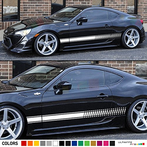 Set of Side Stripes Decal Sticker Vinyl Compatible with Toyota GT/FT 86 Sport Coupe (Sports Toyota Coupe)