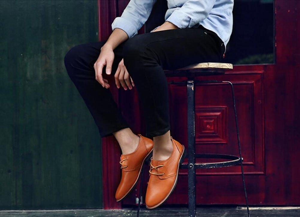 Herren Formelle Schuhe 2018 Herbst/Winter Neue Herren England Business Casual Schuhe/Büro Freizeitschuhe England Herren LUN Leder Lace-up Spitzen Single Schuh (Farbe : Schwarz, Größe : 39) Orange ba05d3