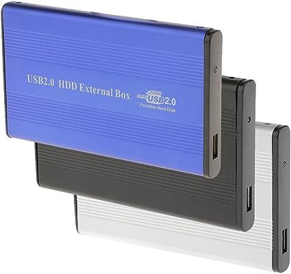 B Baosity ハードドライブケース USB2.0 IDE外部 SSD HDD スクリュードライバー - グレー