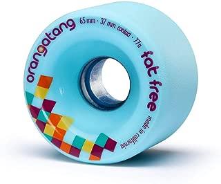 product image for Orangatang Fat Free 65 mm Freeride Longboard Skateboard Wheels (Set of 4)