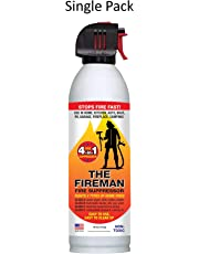 The Fireman Multi-Purpose Fire Extinguishing Suppressant Spray: UL Approved wetting Agent for Home Safety - Fights All 4 Common Fires: Wood, Gasoline, Electrical and Grease (Class A,B,C & K) 18 oz