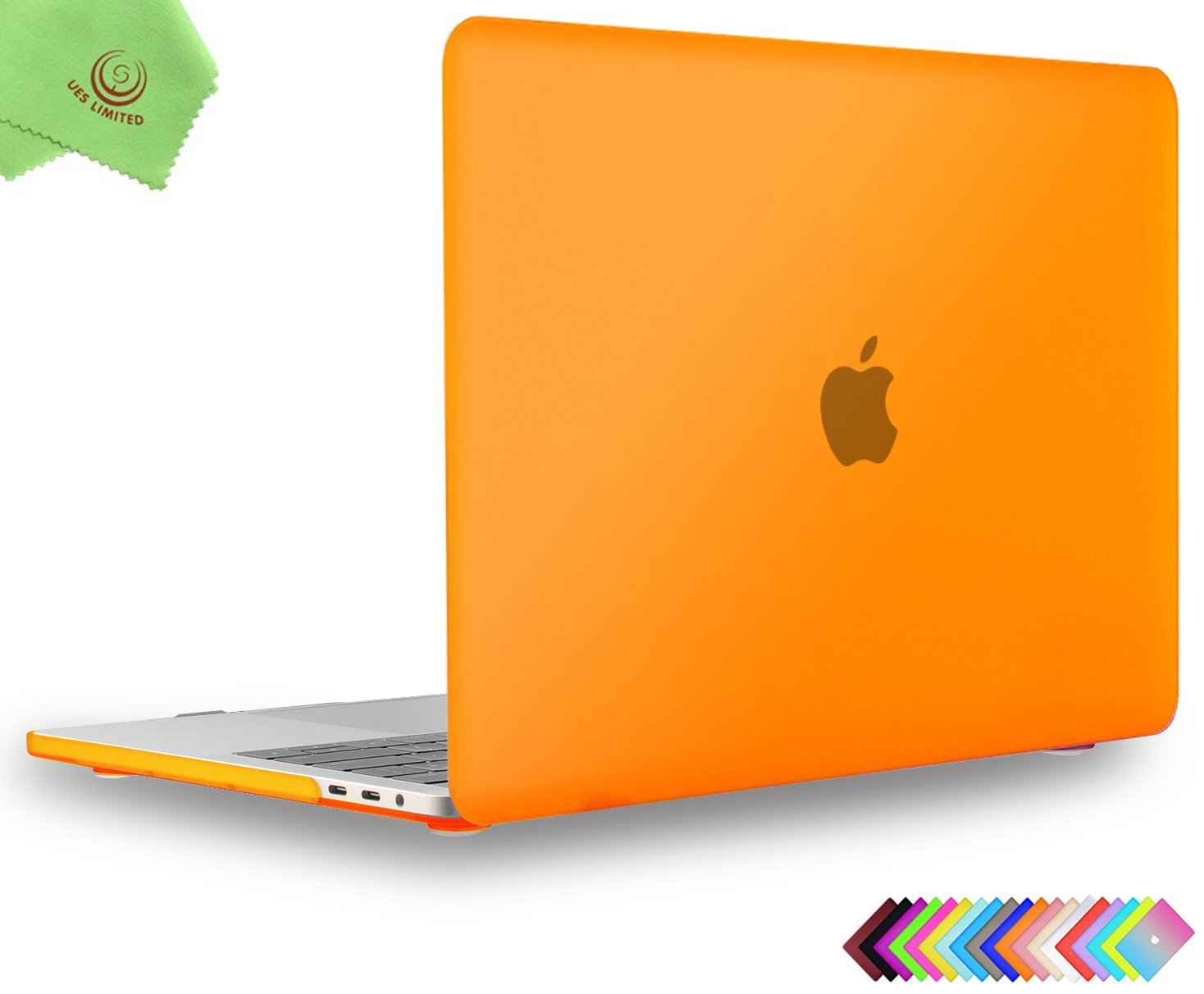 UESWILL MacBook Pro 13 inch Case 2018 & 2017 & 2016 Release, A1989/A1706/A1708, Matte Hard Case Cover for Newest MacBook Pro 13 inch with/Without Touch Bar Touch ID, Orange