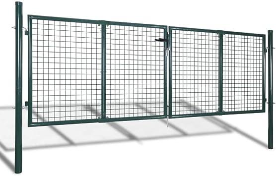 Puerta De Malla De Jardín Verja De Pared,Puerta para su Jardín, Patio o Terraza 289x75cm/306x125cm: Amazon.es: Bricolaje y herramientas