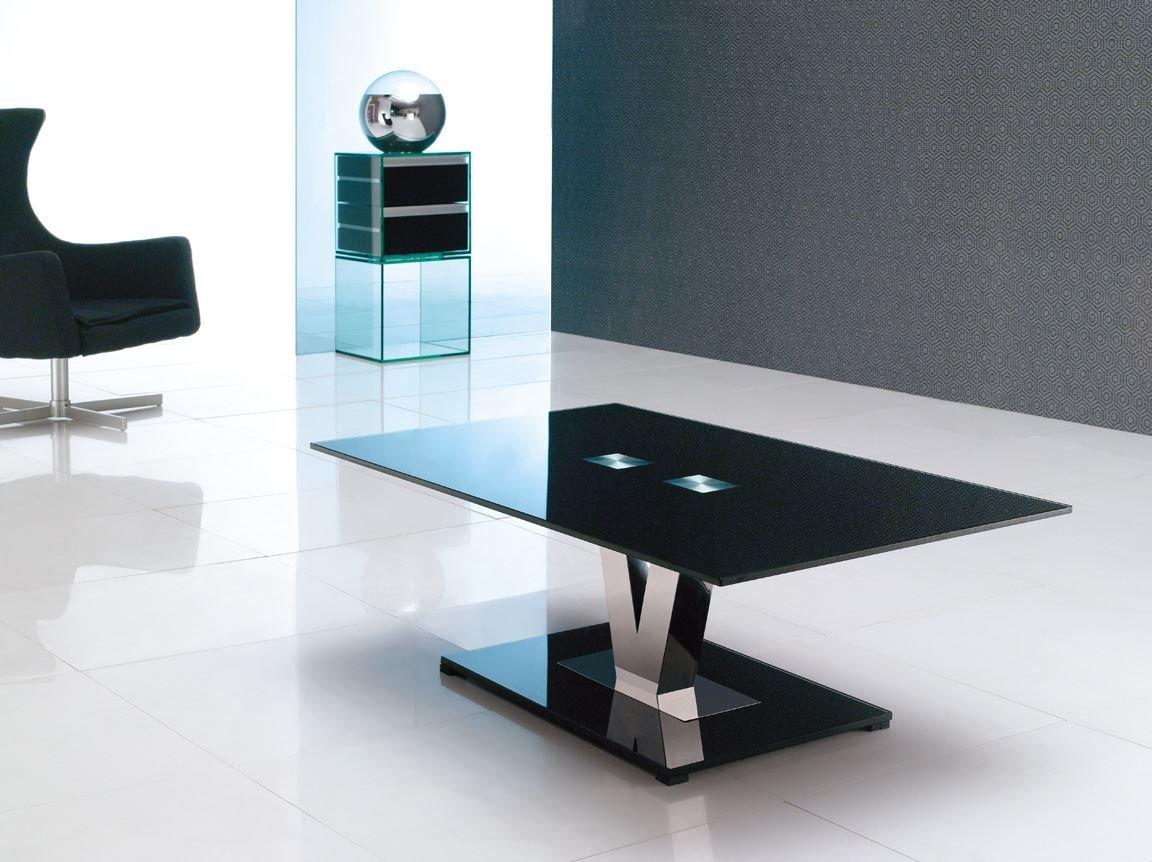 Vidal Black Coffee Table 120 w x 40 h x 70 w cm Amazon