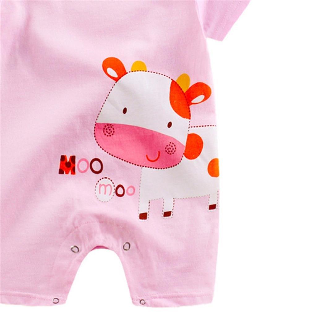 Huhu833 Baby Kleidung Neugeborenes Baby Jungen M/ädchen Cartoon Tiere Strampler niedlicher Overall kletternde Kleidung 0-24M