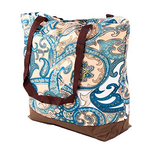SLM Printed Nylon Shoulder Tote Bag