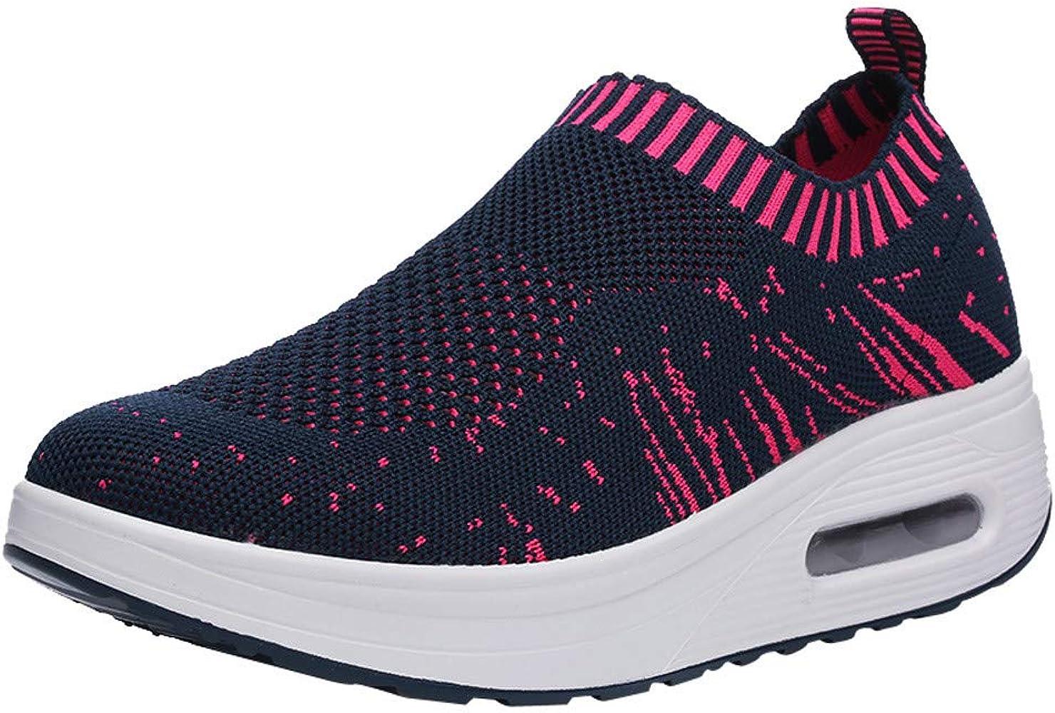 Zapatos Gym Running Verano Primavera otoño,ZARLLE Mujeres de Moda de Malla de Aumento de Zapatos Blandos Fondo de balancín Zapatos Zapatillas: Amazon.es: Ropa y ...