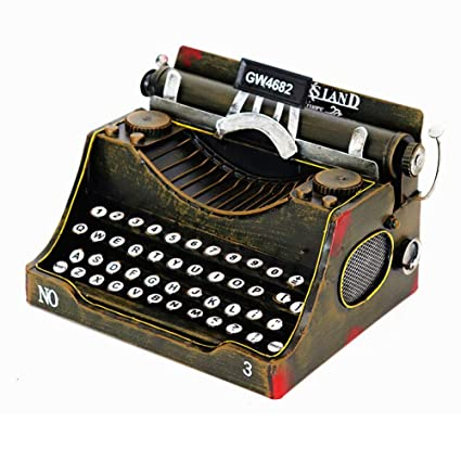 NanXi Adornos de época Plantilla de máquina de Escribir Retro ...