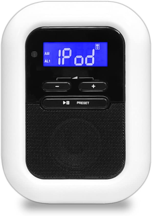 Premium Digital Alarm Clock FM Radio, AUX MP3 Player Input, LED Nightlight & Dual Alarm Mode | Extra Loud option | 12/24 Hours, Backup Battery in Case of Power Failure, Snooze, Sleep Timer
